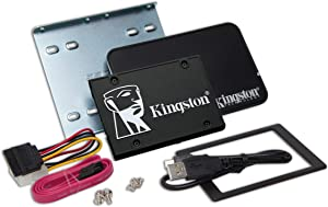 Kingston SKC600B/2048G KC600 Desktop/Notebook Upgrade Kit - Solid State Drive - encrypted - 2 TB - Internal - 2.5 inch - SATA 6Gb/s - 256-bit AES-XTS - Self-Encrypting Drive (SED), TCG Opal Encr