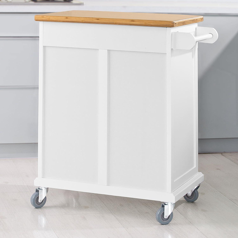 küchenwagen mit abfalleimer