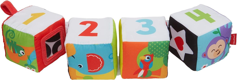 Fisher Price Gfc37 Babys Weiche Wendewürfel Mit Befestigungsschlaufe Für Buggy Und Bett Babyspielzeug Ab 3 Monaten Spielzeug