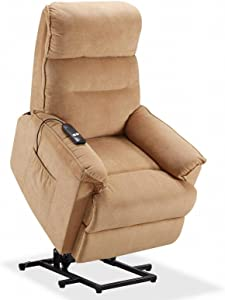 WHL.HH Elderly Electric Recliner Chair Lazy Sofa with Remote Control and Side Pocket, for Guest Room, Living Room, Lounge Home