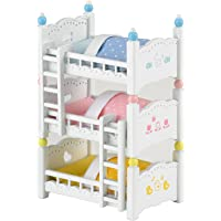 Sylvanian Triple Bunk Beds Families Lits Superposés à 3 Couchettes Bébés-Poupées et Accessoires, 4448, Multicolore