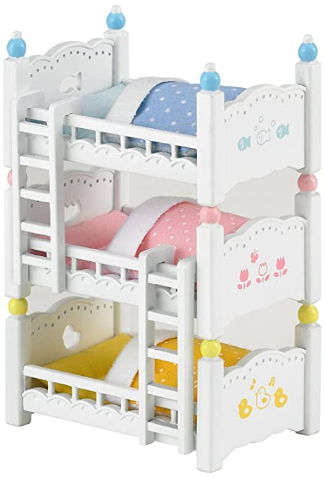 Sylvanian Triple Bunk Beds Families Lits Superposes A 3 Couchettes