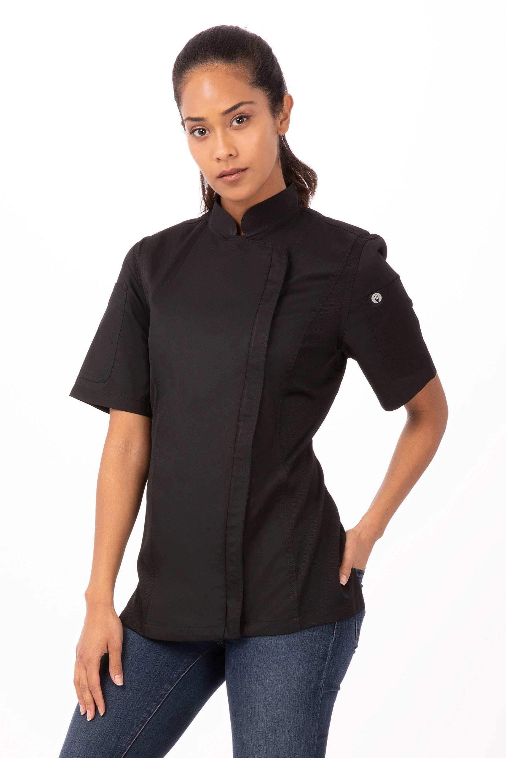 Chef Works Women's Springfield Chef Coat, Black, Medium by Chef Works