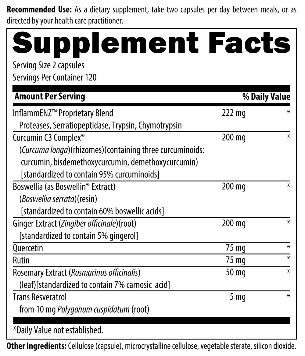 Designs for Health - Inflammatone - Inflammation Relief Support Formula + Curcumin C3 + Ginger + Quercetin, 240 Capsules by designs for health (Image #4)