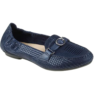 Earth Women's Scout Slip-On Loafer, Navy Blue Printed Buck, 7 M US | Loafers & Slip-Ons