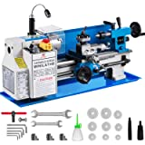 Mophorn 7x12inch Metal Lathe 550W Precision Bench Top Mini Metal Milling Lathe Variable Speed 50-2500 RPM Nylon Gear with A Movable Lamp