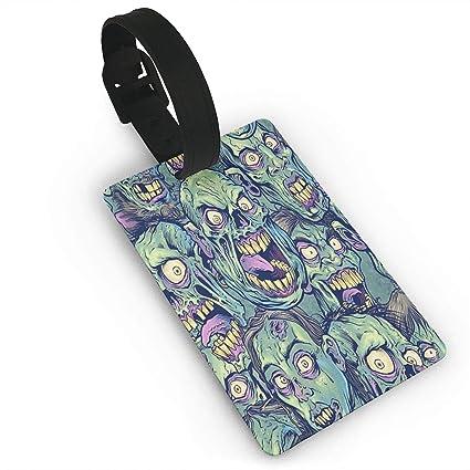 bf548d5992aa Amazon.com: Green Zombie Luggage Tag Cruise Tags Etag Thick Pvc ...
