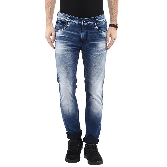 fe7ba22ecece Mufti Mens Dark Blue Super Slim FIT Mid Rise Jeans  Amazon.in ...
