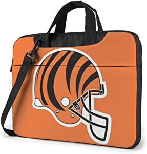 Azhangljqn Laptop Bag Cincinnati-Bengals Laptop Shoulder Bag, One Shoulder Shockproof Laptop Bag, Handbag, Business Travel Bag