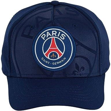Amazon.com  PSG - Official Paris Saint-Germain Cap - Blue  Clothing 0631b9f977a