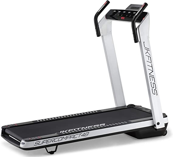 JK Fitness SuperCompact 48 Treadmill, unisex adult, SC48, Bianco, One Size