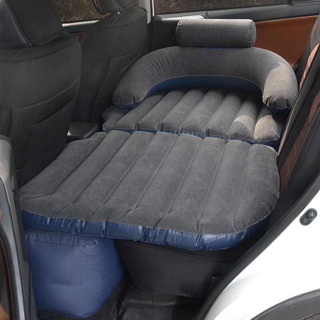 車のインフレータブルベッドの車の後部座席の子供の大人の寝台車の旅行のエアベッド B0763JB17D Black Black