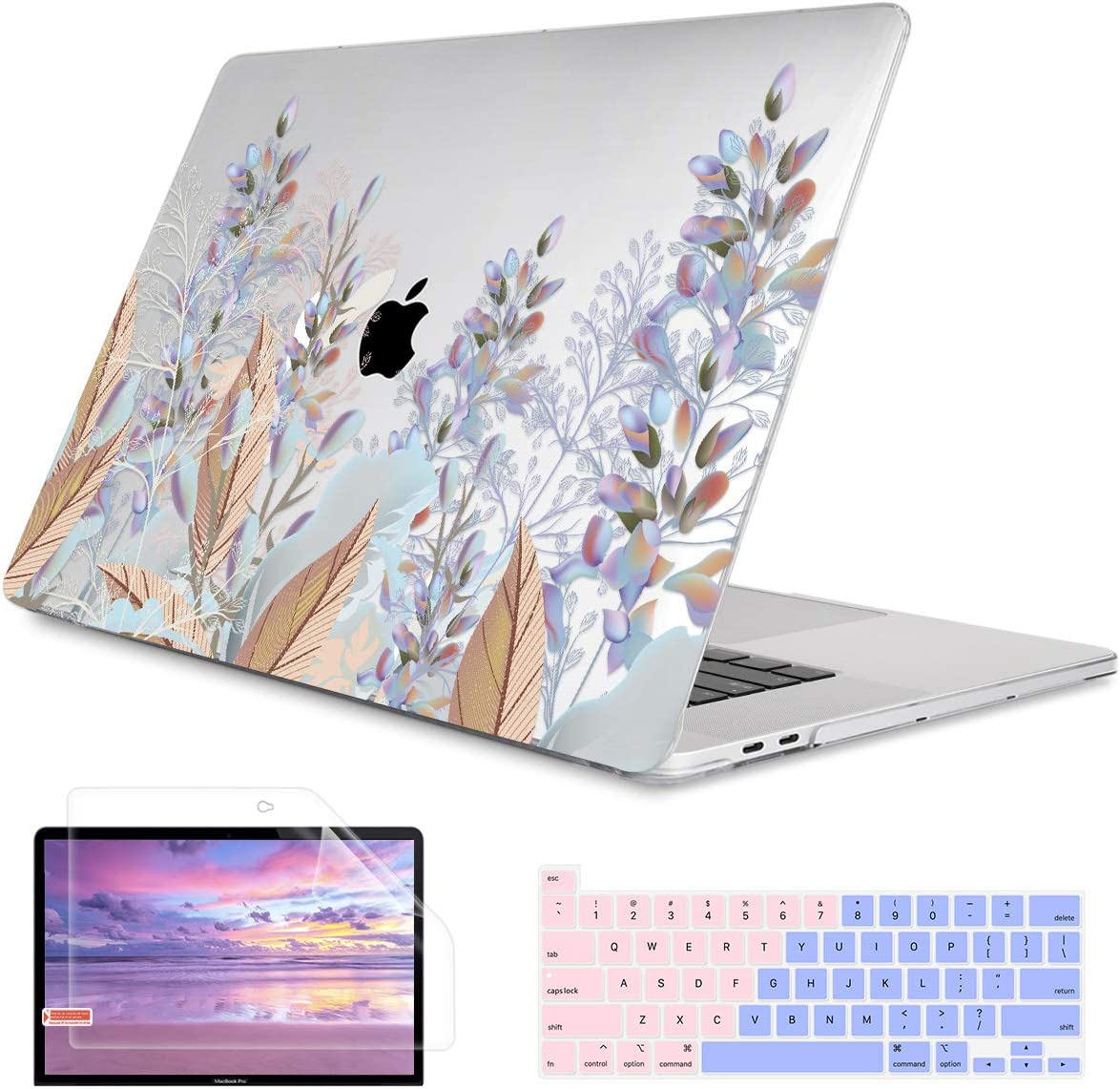 Laptop Messenger Seamless Vintage Flower Pattern On Navy Background 2 Handbag Laptop Bag Compatible 13-13.3 inch MacBook Air Pro 15 inch