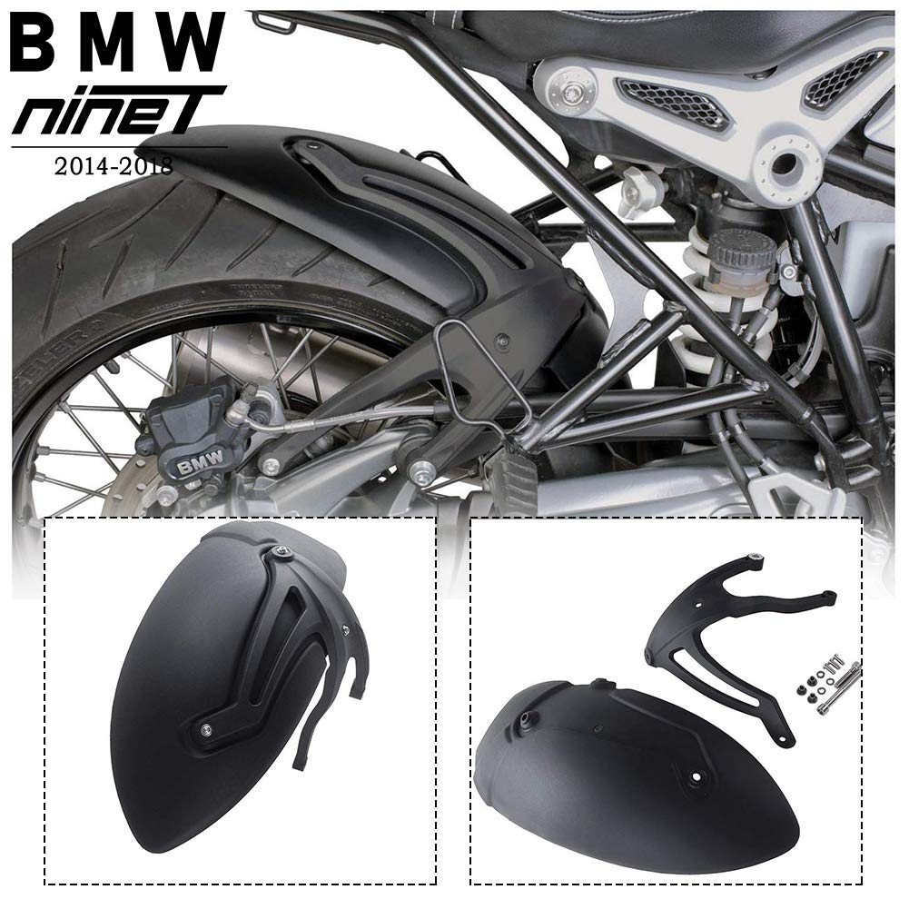 FATExpress R9T Motorcycle Parts Rear Mudguard Wheel Tire Hugger Plastic Black Mud Guards Fender Splash Guard for 2014-2018 BMW R Nine T Scrambler Pure Racer 2015 2016 2017 14-18
