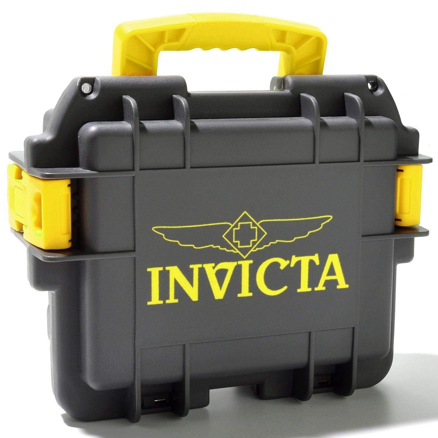 Amazon.com: Invicta Eight Slot Collectors Box in Yellow and Grey DC8GREY-YEL: Watches