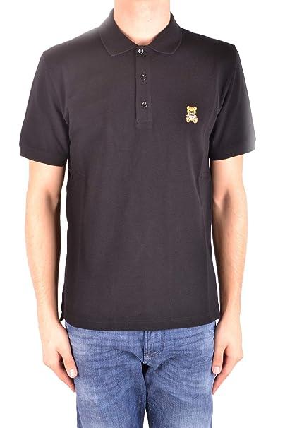 bd5952b2c Moschino EZBC015018 Men s Black Cotton Polo Shirt  Amazon.co.uk  Clothing