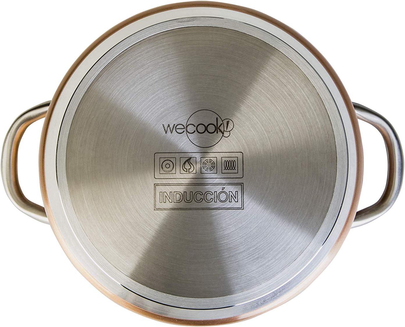 Or 28/x 28/x 25/cm WECOOK Sauteuse Haute Professionnel Aluminium forg/é