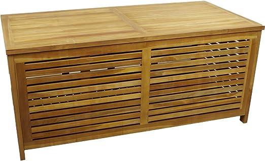 Linder Jardín Caja Teca jardín baúl arcón Caja retención de baúl Cojín: Amazon.es: Jardín