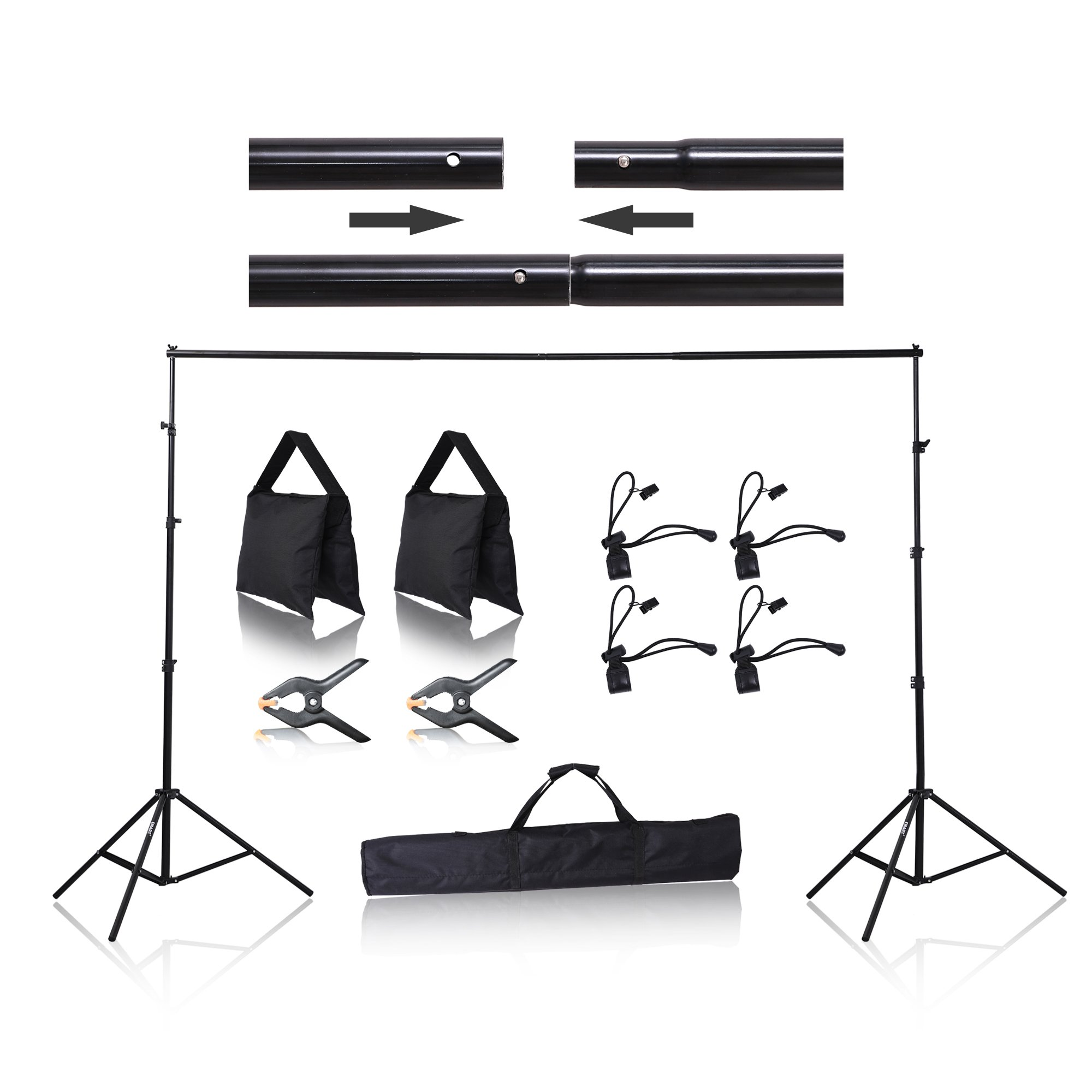 Emart 8.5 x 10 ft Photo Backdrop Stand, Adjustable Photography Muslin Background Support System Stand for Photo Video Studio by EMART
