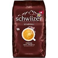 Schwiizer Schüümli Crema Ganze Kaffeebohnen (1kg, Stärkegrad 3/5, Premium Arabica) 1er Pack x 1kg