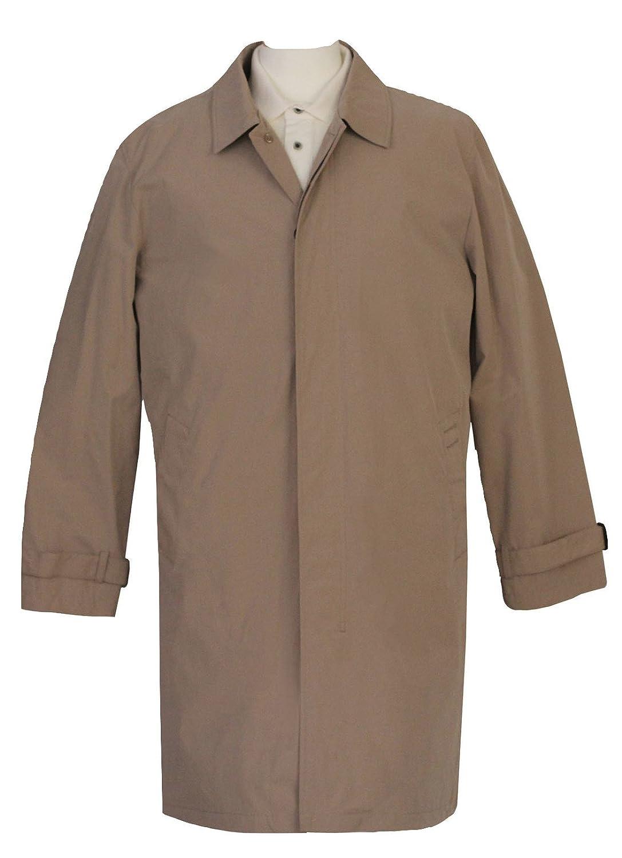 Mens Beige Mac Raincoat with Detachable Lining