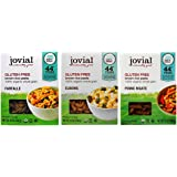 Jovial Organic Gluten-Free Brown Rice Italian Pasta 3 Shape Variety Bundle: (1) Farfalle, (1) Elbows, and (1) Penne Rigate, 12 Oz. Ea.