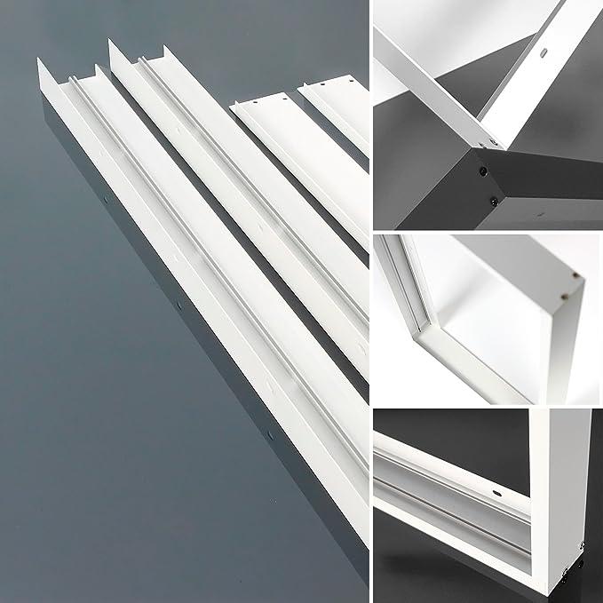 Panel LED Marco 60 x 60 cm, marco en Color Blanco para panel ...