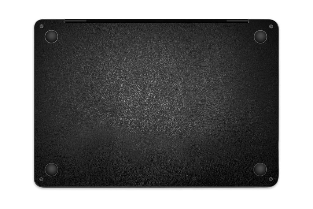 """iCarbons Black Leather Vegan Skin Wrap for MacBook Pro 13"""" (Late 2016-Current, With Touchbar) Full Combo by iCarbons (Image #3)"""