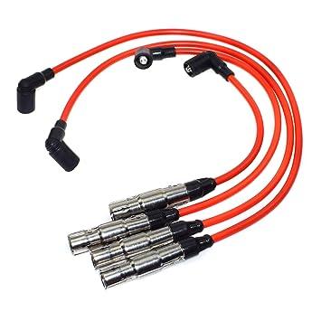Juego de cables de bujía de encendido STD 57041 7558 09487 para VWS Beetle Golf Jetta 2.0L 1998 1999 2000 2001 2.0L L4 NGK: Amazon.es: Coche y moto