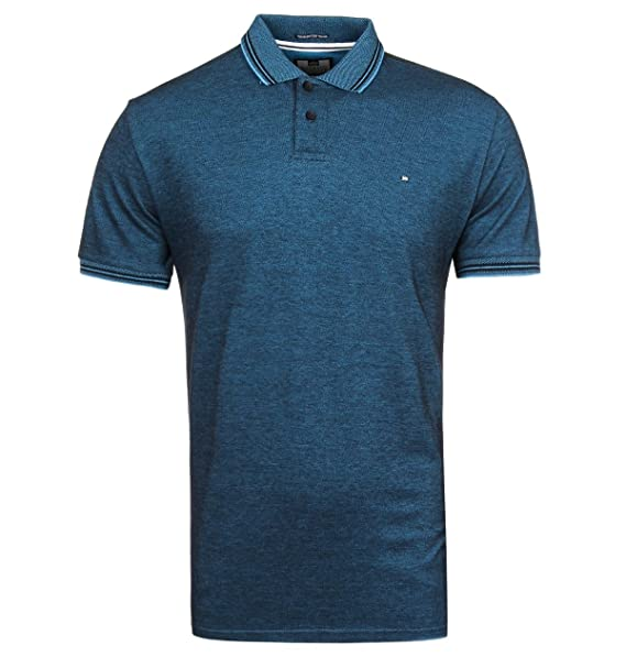 Weekend Offender Short Sleeve Pique Cotton Electric Blue Polo ...