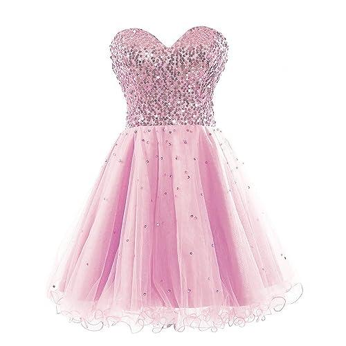 Short Pink Prom Dress: Amazon.com