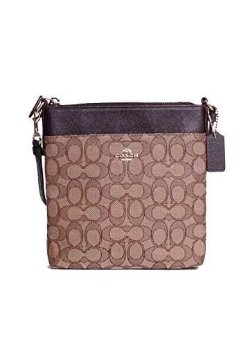 4236e5e7b1 Amazon.com  COACH Women s Signature Messenger Crossbody Light Khaki ...