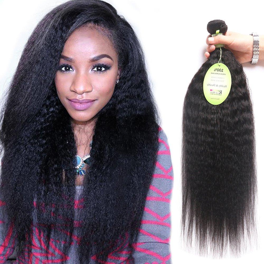 Amazon Fani Kinky Straight Hair Yaki Human Hair Extension 3