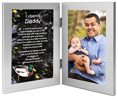 Daddy Gift - Sweet I Love You Poem from Daughter or Son - Add Photo to Frame