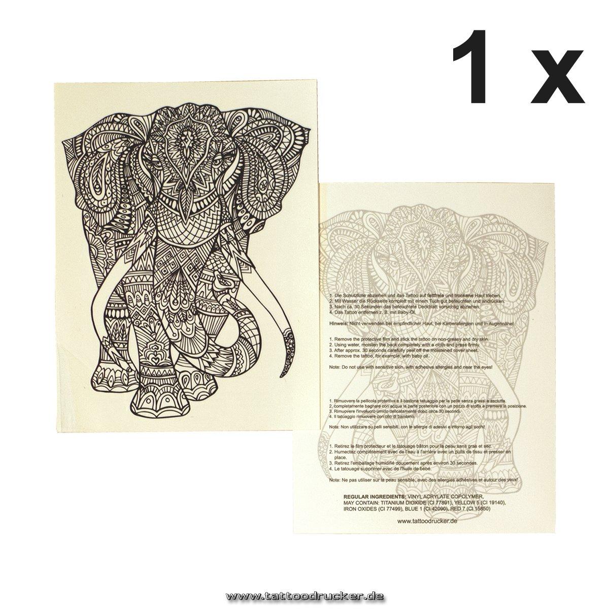 Tatuaje para el brazo XXL con brújula para mujer, multicolor ...
