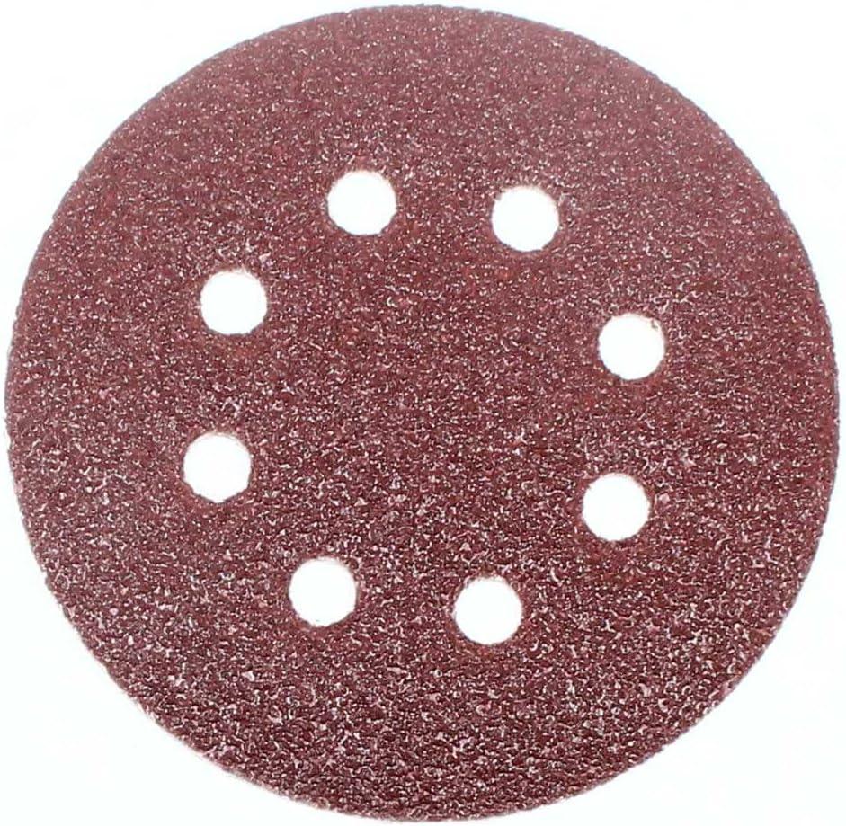 Vetrata │ 8/foro │ P D W Levigatrice orbitale 25/fogli abrasivi /Ø125/mm │ Grana K40/│ rotondo