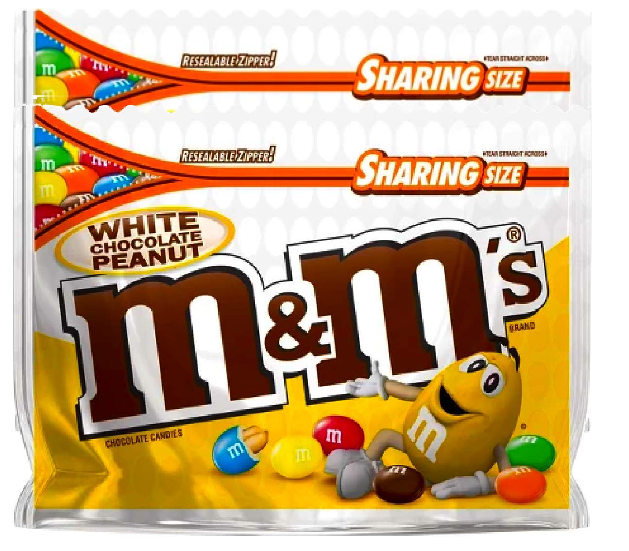 NEW M&M's White Chocolate Peanut Candies Limited edition- 9.6oz (2) by M&M'sCandy