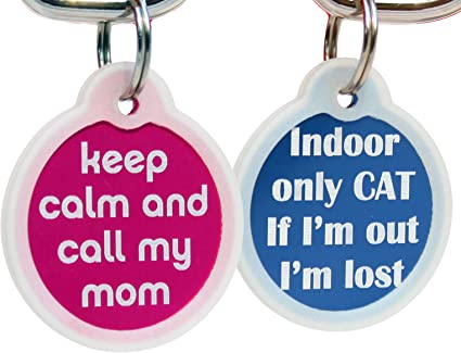 Custom Personalized Pet ID Tag for Dog and Cat Collars I RESCUED MY HUMAN
