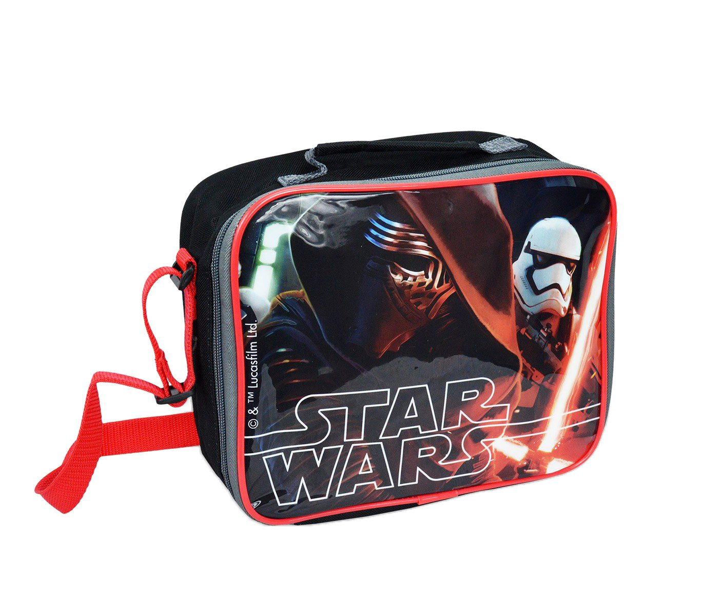 SWE7046 Borsa a tracolla porta merenda termica Star Wars 26 x 20 x 9 cm.MEDIA WAVE store ®