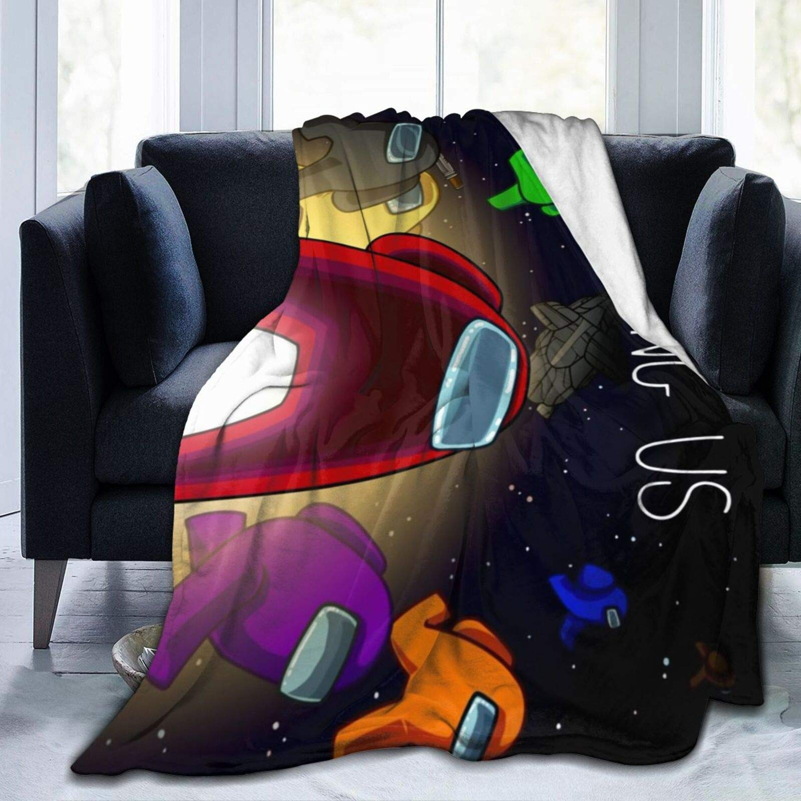 Games Blanket Ultra Soft Flannel Among- Throw Blankets for Kids Baby Couch