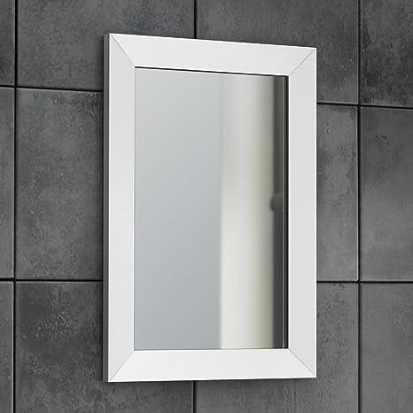 Specchi Moderni Con Cornice.Soak Arredo Bagno Specchio Moderno Con Cornice Bordi Smussati