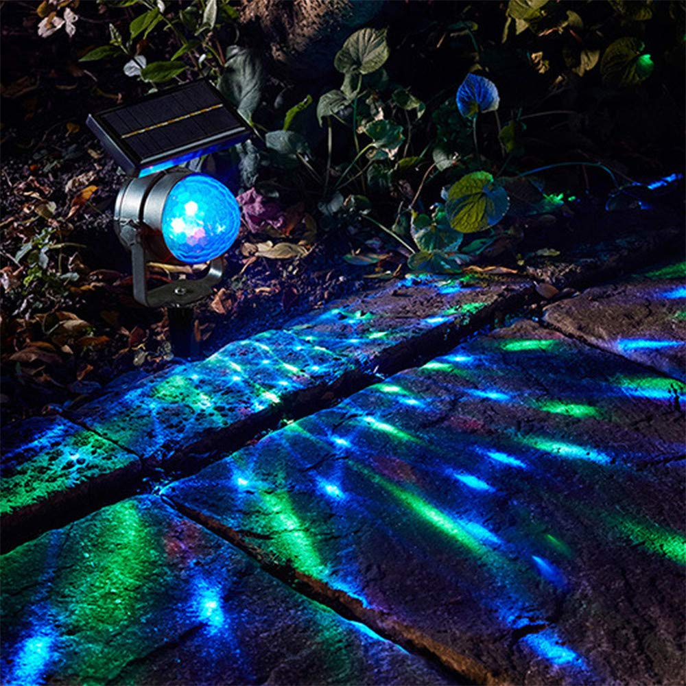 Buntes Drehendes Garten-Rasen-Licht-Solarwasserdichtes Im Freien F/ür Partei-Feiertags-Beleuchtung