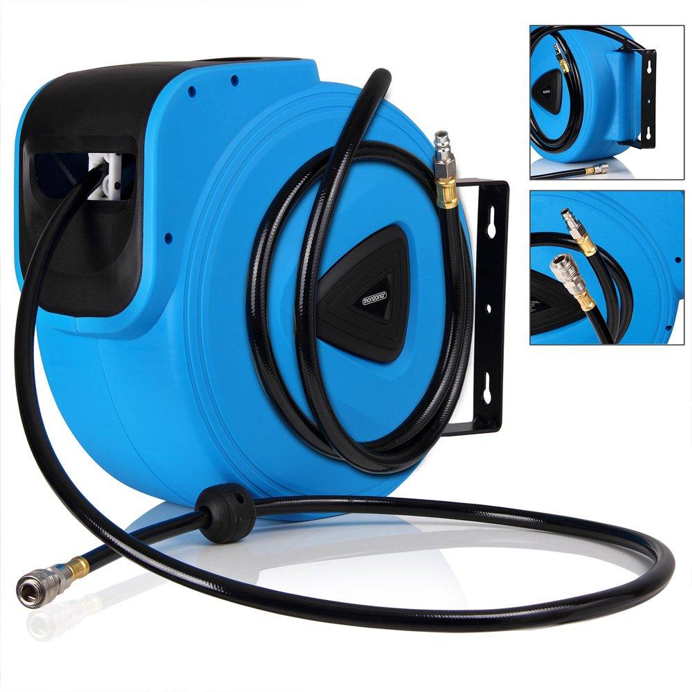 Druckluftschlauch Aufroller automatisch【30m】1/4' Anschluss - Schlauchtrommel Wandschlauchhalter Schlauchaufroller Druckluftschlauch-Aufroller Deuba