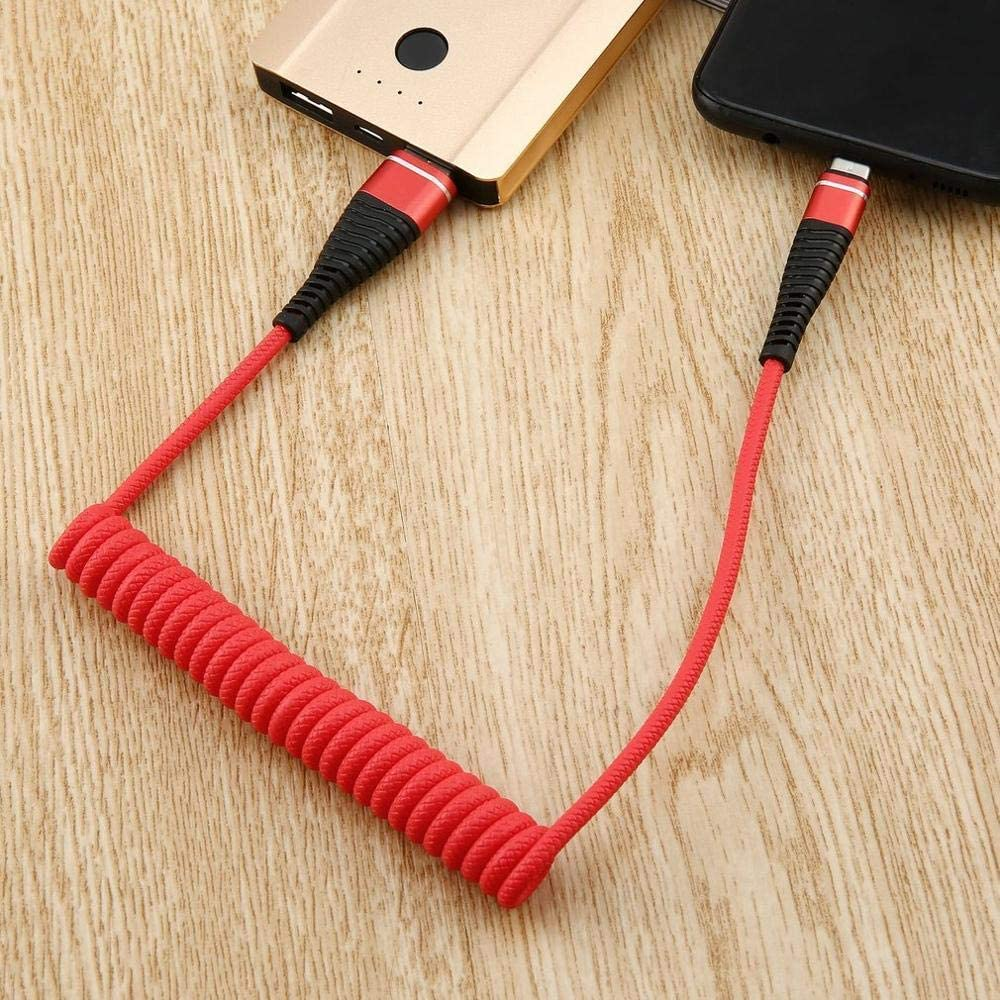 Generic USB-C Type C Cable Coiled Spring Spiral Type-C Male Extension Cord Data Sync Charger Wire Charging Cable
