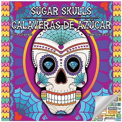 619005cbf Sugar Skull Day of The Dead Calendar 2019 Set - Deluxe 2019 Day of The Dead