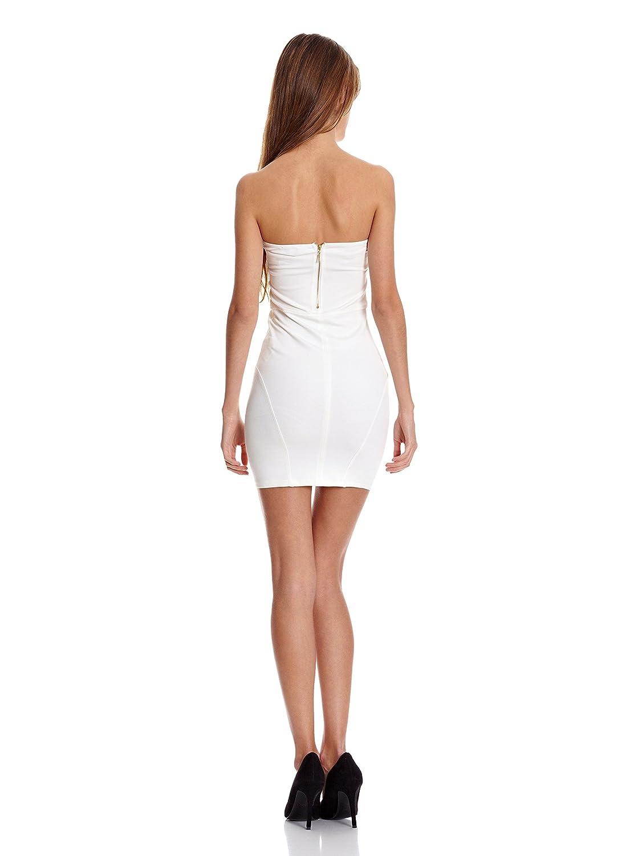 Bershka Vestido Mix P.RomaDetalles Polipiel Blanco Roto M: Amazon.es: Ropa y accesorios