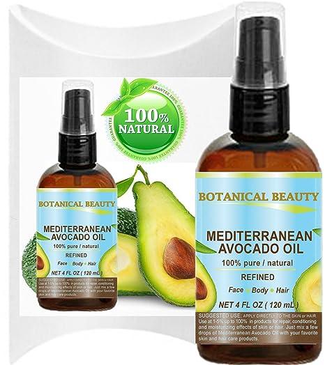 Aceite de Aguacate (mediterráneo). 100% puro/Natural/refinado/sin