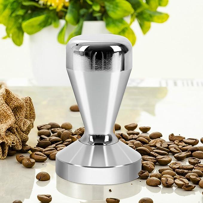 Prensador Cafe Acero Inoxidable Prensador para Caf/é Base Plana 51mm Caf/é Tamper