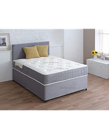 1a8d73df1c7b Luxury Suede Divan 3FT Single Bed Set with Mattress - HEADBOARD and  Available Storage Drawers