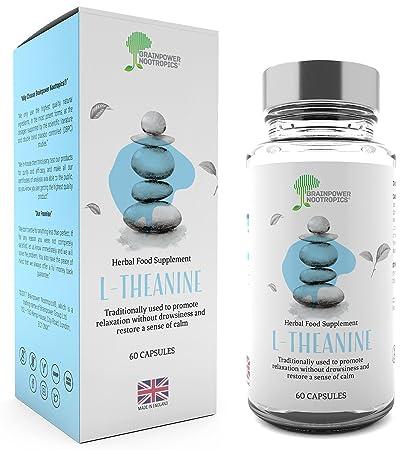 Brainpower Nootropics - L-teanina 100 % pura, 400 mg por dosis ...